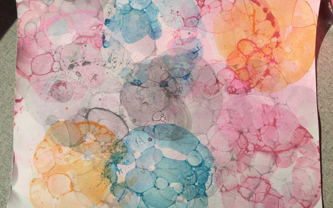 Making Bubble Art